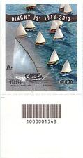 2013 francobollo Lo Sport Italiano: Il Dinghy 12' SX CODICE A BARRE 1548