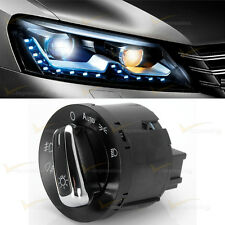Euro Switch Auto Headlight For 06-09 VW Golf GTI MK5 MK6 Jetta Passat B6 Chrome