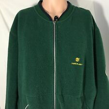 Vintage 90s Timberland Sports Series Fleece Jacket L Green Outerwear Full Zip