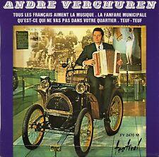 """ANDRE VERCHUREN. LA FANFARE MUNICIPALE. RARE FRENCH EP 7"""" 45 1969 ACCORDEON VELO"""