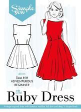 Simple sew sewing pattern la ruby robe aventureux débutants tailles 8 - 18 003