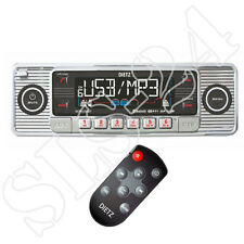 Look retro autoradio USB SD/MMC reproductor cd/mp3 con Bluetooth a2dp radio + FB cromo