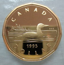1995 CANADA LOONIE PROOF ONE DOLLAR COIN - A