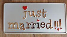 US CAR USA AUTO Hochzeit Kennzeichen Just Married Nummernschild Autoschmuck 6