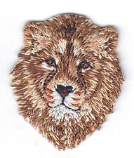 LION HEAD - JUNGLE - ZOO ANIMAL - IRON ON EMBROIDERED PATCH - WILD ANIMALS