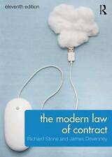 The Modern Law of Contract by Richard Stone, James Devenney (Paperback, 2015)