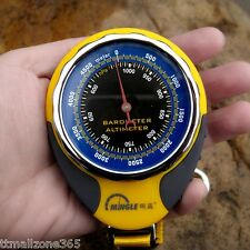 4 in 1 Compass Barometer Altimeter Thermometer With Carabiner Outdoor Hiking