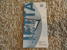 2005 VW Jetta Wagon Quick Reference Guide Owners Manual Supplement Volkswagen