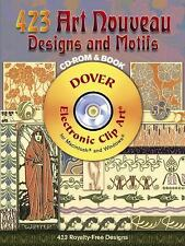 423 Art Nouveau Designs and Motifs (Dover Electronic Clip Art) (CD-ROM and Book)