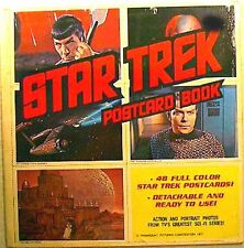 1977 Star Trek Classic Postcard Book-48 Cards- Unused- FREE S&H
