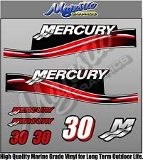 MERCURY 30hp DECAL KIT - OUTBOARD DECALS