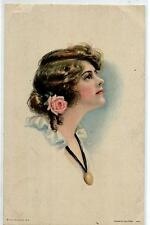 ALICE FIDLER American Girl N° 109 Donnina Glamour Girl Rose PC Viaggiata 1920