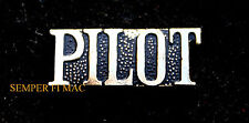 VINTAGE PILOT SCRIPT PIN UP PRIVATE SOLO PATCH FAA FBO AIRPORT AIRPLANE HELO WOW