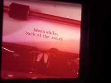 slide Drive in Theater Movie Film Title MGM Type Writer Change of scene show