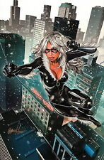 Greg Horn SIGNED Spiderman Marvel Comics Super Hero Art Print ~ Black Cat
