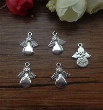 Wholesale 16pcs Tibet silver Angel Charm Pendant beaded Jewelry Findings KP50