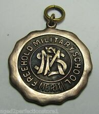 Orig Old FREEHOLD MILITARY ACADEMY SCHOOL Merit Award Medal Fob 'Deportment'