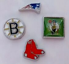 Set of 4 New England Patriots, Boston Red Sox, Celtics & Bruins Floating Charms