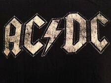 VINTAGE AC/DC BLACK T SHIRT MEDIUM