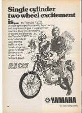 Yamaha RS125 classic period motorcycle advert  1975