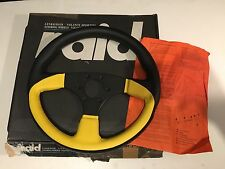 RAID 16  KBA70172 YELLOW LEATHER 3 SPOKE NEW STEERING WHEEL R.D.I.