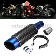 38-51mm Motorcycle Gloss Carbon Fiber Exhaust Muffler Pipe Silencer System Bike