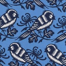 By 1/2 Yard  Michael Miller Cotton Fabric - Seedling Chirp in Sky - Thomas Paul