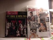 STAR WARS THE FORCE AWAKENS Lot of 2 Magazines: Rolling Stone Dec. 2015+ Parade