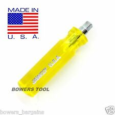 "Jawco 1/4"" Drive Stubby Spinner Handle Socket Nut Driver MADE IN USA H4"