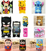 For IPHONE Models 3D Cute Cartoon Funny Soft Gel Fun Cute Case Cover Collection