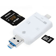 Lightning iFlash USB SDHC Micro OTG Card Reader SD/TF For IPhone Samsung Ipad PC