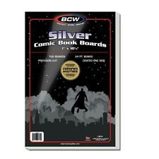 "1 Pack of 100 BCW Brand Silver Age Regular Comic Book 7"" Backing Backer Boards"