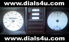 VOLKSWAGEN VW TRANSPORTER T3 / T25 Type 2 (1979-1990) - 100mph - WHITE DIAL KIT