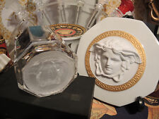 VERSACE MEDUSA WHISKEY SET OF 2 VODKA SCOTCH GLASS PARTNER GIFT NEW Sale