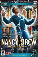Nancy Drew: The Deadly Device (Win/Mac, 2012) BRAND NEW SEALED SHIPS NEXT DAY