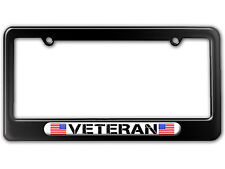 Military Veteran - American Flag License Plate Tag Frame