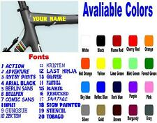 """CUSTOM MADE BIKE FRAME STICKERS WITH YOUR NAME DECAL 3/4"""" 1 PAIR"""