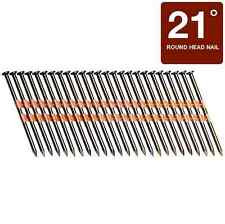 Framing Pneumatic Nails Collated Fastners Wide Head 21 Degree 3 inch 4000 Pack