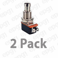 SPST (N/O) MOMENTARY ON METAL BUTTON PUSH BUTTON SWITCH 10A@125VAC#PBS24B2-2PK