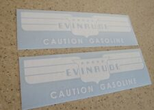 Evinrude Vintage Fuel Tank Decal Crus-A-Day 2-PAK FREE SHIP + Free Fish Decal!