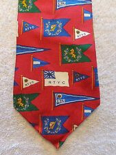 """TOMMY HILFIGER MENS TIE NAUTICAL FLAGS     4"""" X 56.5"""""""