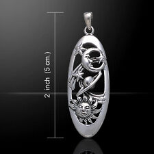 Sun Moon and Stars .925 Sterling Silver Pendant by Peter Stone