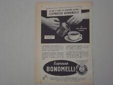 advertising Pubblicità 1956 ESPRESSO BONOMELLI