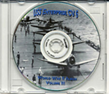 USS Enterprise CV 6 CRUISE BOOK  WWII on CD  RARE Navy