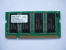 256MB RAM Laptop so-dimm ddr 333MHz HYNIX PC2700S-25330 HYMD232M646A6-J-AA