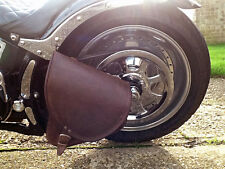HARLEY DAVIDSON SOFTAIL BROWN LEATHER SADDLE BAG SWINGARM SIDE PANNIER BAG