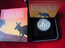 Australia  2010 High Relief $1 Kangaroo -   1oz Silver - Proof - Cased