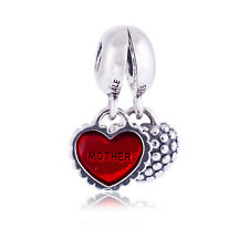 Genuine Pandora Silver Enamel Mother & Daughter Red Enamel Dangle 790950EN27