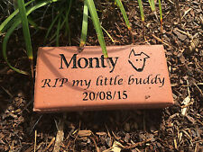 Pet Memorial Plaque Clay Paver - Personalised - Made to order
