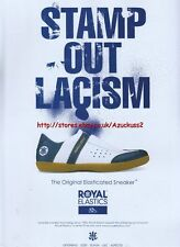"Royal Elastics ""Stamp Out Lacism"" Shoes 2003 Magazine Advert #2817"